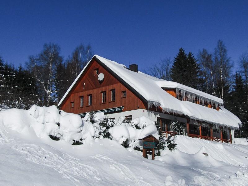 Foto penzion v zimě